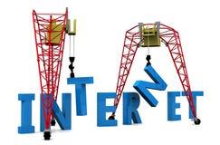 texte de l'Internet 3D de construction Images stock