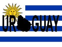 Texte de l'Uruguay avec la carte illustration libre de droits