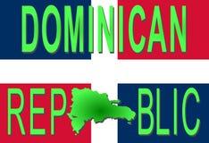 Texte de la république dominicaine illustration de vecteur