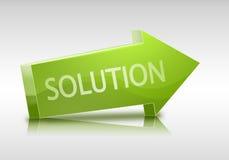 texte de la solution 3D dans la flèche et le relfection Photo libre de droits