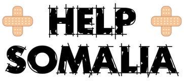 Texte 4 de la Somalie d'aide photographie stock