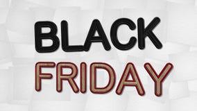 Texte de la vente 3D de Black Friday illustration libre de droits