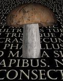 Texte de latin de champignon illustration stock