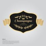 Texte de lorem ipsum avec le label de bouteille de champagne illustration libre de droits