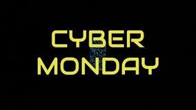 Texte de lundi de Cyber avec le concept d'appareil électronique illustration de vecteur