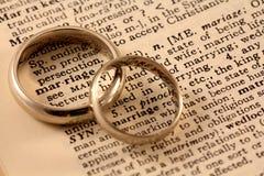 Texte de mariage avec des bandes de mariage Image libre de droits