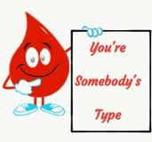 Texte de motivation pour le camp de don du sang illustration libre de droits