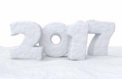 Texte de neige de 2017 bonnes années Photographie stock libre de droits