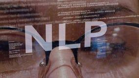 Texte de NLP sur le programmateur de logiciel femelle banque de vidéos