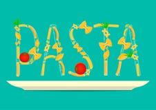 Texte de pâtes Photos libres de droits