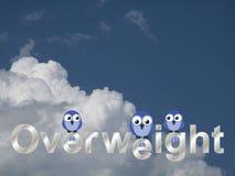 Texte de poids excessif Image libre de droits