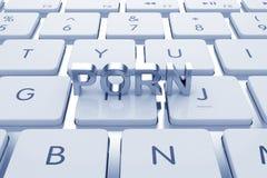 Texte de porno sur le clavier calculé illustration de vecteur