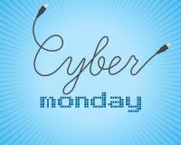 Texte de promo de Digital sur un fond bleu pour le Cyber lundi Vente, thème de remise Illustration de vecteur Photographie stock