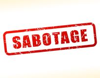 Texte de sabotage protégé illustration stock
