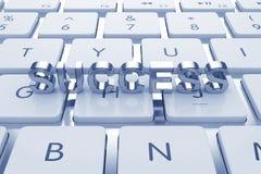 Texte de succès sur le clavier calculé illustration de vecteur