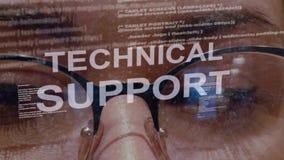 Texte de support technique sur le fond du promoteur femelle banque de vidéos