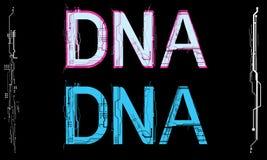 Texte de technologie d'ADN Image libre de droits