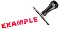 texte de timbre d'exemple images libres de droits