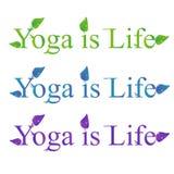 Texte de vecteur de yoga - le yoga est la vie Photos libres de droits