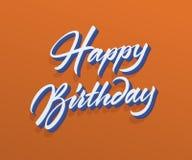 Texte de vecteur de joyeux anniversaire Images libres de droits