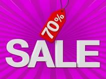 Texte de vente avec la remise de pour cent Photos stock