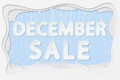Texte de vente de décembre Image libre de droits