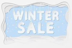 Texte de vente d'hiver Images stock