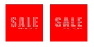 Texte de vente dans les grands dos Photos libres de droits