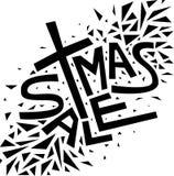 Texte de vente de Noël de Noël, copie, affiche, décoration d'hiver, phot Photographie stock