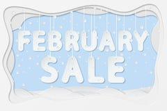 Texte de vente de février Photos libres de droits