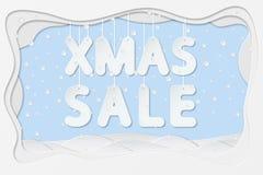 Texte de vente de Noël Photographie stock