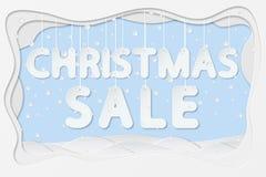 Texte de vente de Noël Photographie stock libre de droits