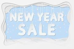 Texte de vente de nouvelle année Photo libre de droits
