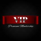 Texte de VIP sur le ruban rouge Photographie stock