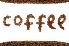 Texte des grains de café photo libre de droits