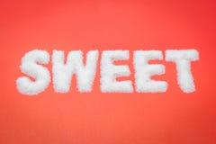 Texte doux de sucre Image stock