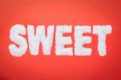 Texte doux de sucre Images stock