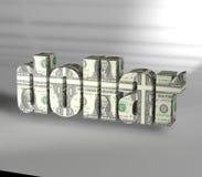 Texte du dollar avec le fond de blanc de texture Image stock