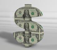 Texte du dollar avec le fond de blanc de texture Images libres de droits
