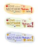 Texte du jour de mère Photo stock