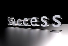 Texte du succès 3D Photo stock
