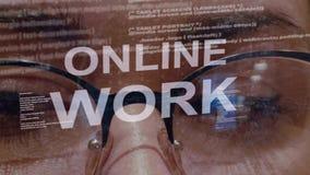 Texte en ligne de travail sur le fond du promoteur femelle banque de vidéos