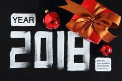 texte et décoration de 2018 nombres Images stock