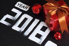 texte et décoration de 2018 nombres Photo stock