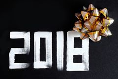 texte et décoration de 2018 nombres Photographie stock