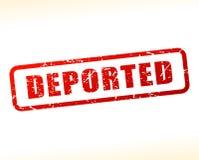 Texte expulsé protégé illustration libre de droits