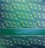 texte floral de l'espace de fond Photo libre de droits