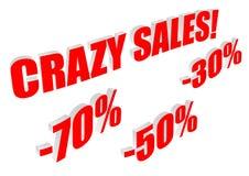 Texte fou de ventes avec des pourcentages Illustration de Vecteur