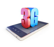 texte 3g d'ANG du smartphone 3g Photo stock