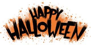 Texte heureux de Halloween Images stock